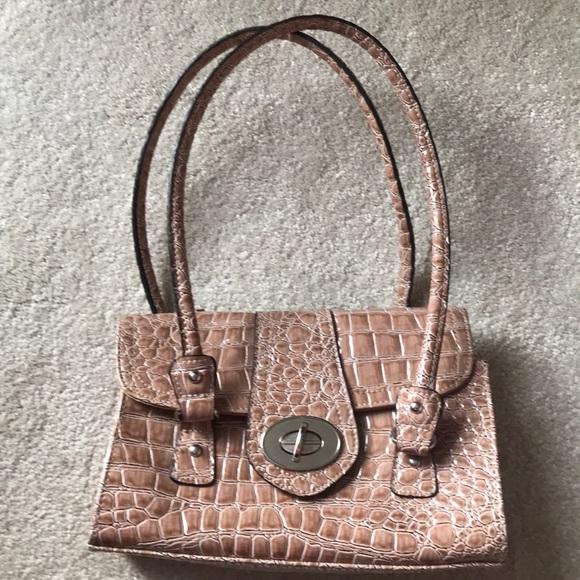 Handbags - Croc print bag